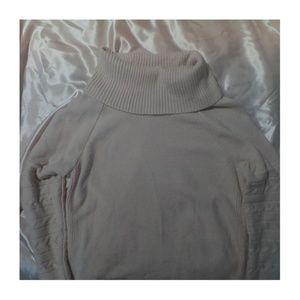 calvin klein pink swoop neck sweater